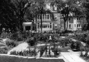 The garden of the Stewart home, built by T. A. Code in 1906.